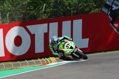 San Marino, Italy - May 12: Ondrej Jezek CZE Kawasaki ZX-10R Grillini Racing Team during qualifyng session Stock Image