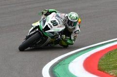 San Marino, Italy - May 12: Román Ramos ESP Kawasaki ZX-10R Team GO ELEVEN in action Royalty Free Stock Photo