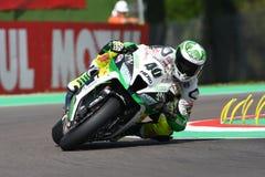San Marino, Italy - May 12: Román Ramos ESP Kawasaki ZX-10R Team GO ELEVEN in action Stock Photo