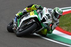 San Marino, Italy - May 12: Román Ramos ESP Kawasaki ZX-10R Team GO ELEVEN in action Royalty Free Stock Images