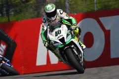 San Marino, Italy - May 12: Román Ramos ESP Kawasaki ZX-10R Team GO ELEVEN in action Royalty Free Stock Image