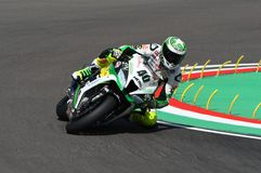 San Marino, Italy - May 12: Román Ramos ESP Kawasaki ZX-10R Team GO ELEVEN in action Royalty Free Stock Photography