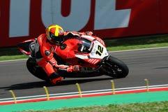 San Marino, Italy - May 12, 2017: Xavi Fores ESP Ducati Panigale R BARNI Racing Team in action Stock Photos