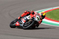 San Marino, Italy - May 12, 2017: Xavi Fores ESP Ducati Panigale R BARNI Racing Team in action Stock Images