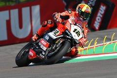 San Marino, Italy - May 12, 2017: Xavi Fores ESP Ducati Panigale R BARNI Racing Team in action Stock Image