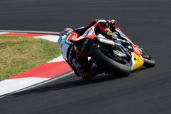 Aprilia RSV4 Factory - Aprilia Alitalia Racing Team  driven by Leon Camier GBR in action during the Superbike Practice in Imola Ci. San Marino, Italy - Sep 24 Royalty Free Stock Image