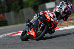 San Marino, Italy - Sept 26, 2009: Aprilia RSV4 Factory of Aprilia Racing Team, driven by Max Biaggi Stock Images