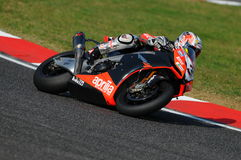 San Marino, Italy - Sept 26, 2009: Aprilia RSV4 Factory of Aprilia Racing Team, driven by Max Biaggi Stock Image