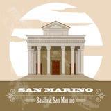 San Marino landmarks. Retro styled image Stock Photos