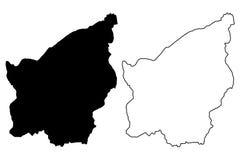 San Marino map vector Royalty Free Stock Images