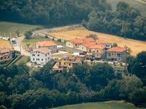 San Marino - Mening van het dorp Stock Foto's