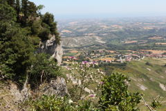 San- Marino. Na-Berg Titano Lizenzfreies Stockfoto