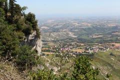 San Marino.Na zet Titano op Stock Foto's