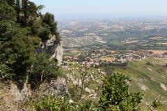 San Marino.Na zet Titano op royalty-vrije stock foto