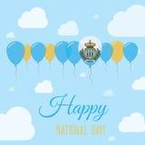 San Marino National Day Flat Patriotic Poster. Royalty Free Stock Image