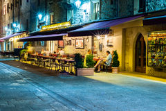 San Marino nightlife Stock Images