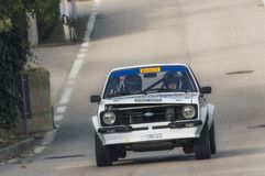 San Marino 21 October 2017 -Ford escort at rally the legend stock photo