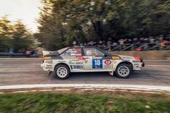 San Marino 21 October 2017 -SUBARU LEGACY at rally the legend Stock Images