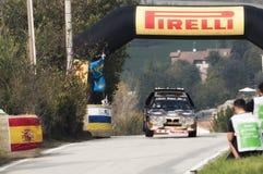 San Marino 21 Oktober 2017 - den Lancia deltan s4 på hopp på samlar legenden Royaltyfri Bild