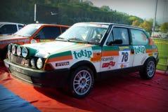 San Marino 21 Oktober 2017 - FIAT RITMO ABARTH 130 på samlar legenden Arkivbild