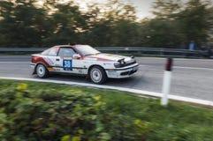 San Marino 21 Oktober 2017 - TOYOTA CELICA ST 165 bij verzameling de legende Stock Foto