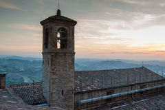 San-Marino Old Town Center Cityscape Stock Photography