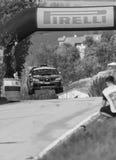 SAN MARINO, SAN MARINO: - OTT 21, 2017 - Subaru Impreza WRC bieżnego samochodu stary wiec legenda 2017 sławny SAN MARINO dziejowy Obrazy Royalty Free