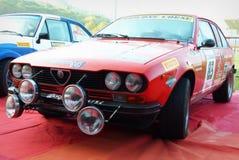San Marino 21 ottobre 2017 - AR ALFETTA GTV 1983 a raduno la leggenda Immagine Stock Libera da Diritti