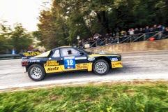 San Marino 21 2017 Październik - Lancia 037 przy wiecem legenda Zdjęcie Royalty Free