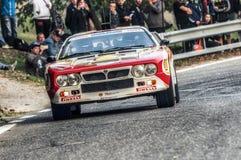 San Marino 21 2017 Październik - Lancia 037 przy wiecem legenda Zdjęcia Royalty Free