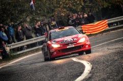 San Marino 21 2017 Październik - PEUGEOT 206 WRC przy wiecem legenda Obraz Stock