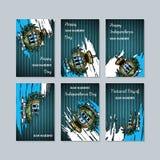 San Marino Patriotic Cards per la festa nazionale illustrazione vettoriale