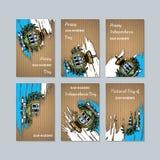 San Marino Patriotic Cards voor Nationale Dag stock illustratie