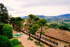 San Marino, piękna sceneria od above Obraz Royalty Free