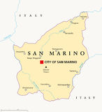 San Marino Political Map Stockfoto
