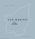 San Marino Political Map Photo libre de droits