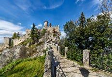 San Marino średniowieczny kasztel Rocca Guaita Obraz Stock