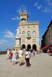 San Marino REPÚBLICA DE SÃO MARINO - 31 DE AGOSTO Estátua da liberdade mim Foto de Stock