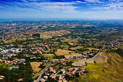 San Marino republic. From atop of a mountain royalty free stock image