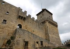 San Marino, Republic of San Marino - June 4, 2016: Castle called Rocca Guaita in Central Italy royalty free stock images