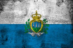 San Marino. Grunge and dirty flag illustration. Perfect for background or texture purposes stock illustration