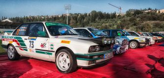 BMW M3 E30 1989 M old racing car rally. SAN MARINO, SAN MARINO - OTT 21 : old racing car rally THE LEGEND 2017 the famous SAN MARINO historical race Stock Photos