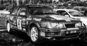 FORD SIERRA 1987 old racing car rally Royalty Free Stock Photo