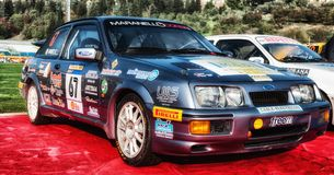 FORD SIERRA 1987 old racing car rally Royalty Free Stock Photography