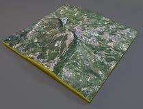 San Marino satellite view Stock Photography