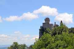 San Marino second tower Royalty Free Stock Image