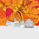 San Marino Skyline Map Images stock