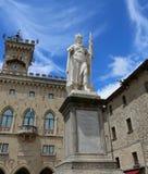 San Marino, SM, san Marino Republic - June 6, 2017: Statue of Li. San Marino, SM, san Marino Republic - June 6, 2017:  Statue of Liberty in the main square of royalty free stock photo