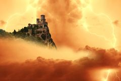 San marino tower Stock Photography