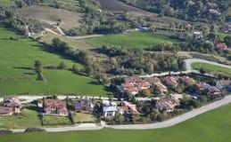 San Marino urban hillside Royalty Free Stock Images
